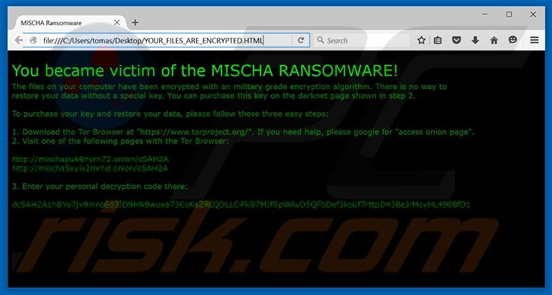 MISCHA decrypt instructions