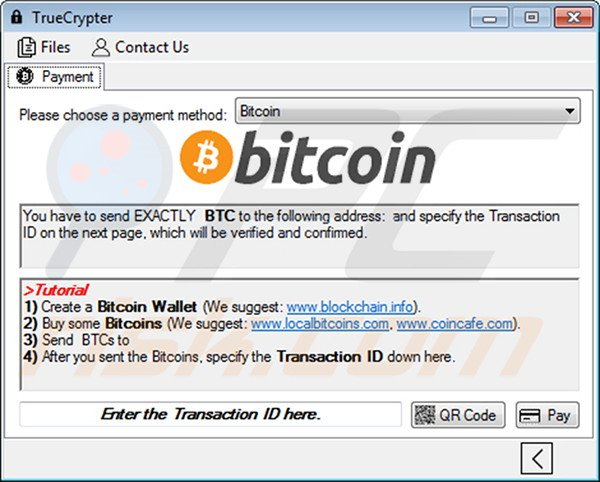 TrueCrypt decryptor accepting Bitcoins