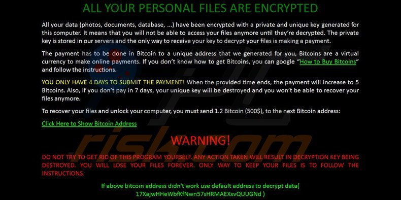 How to remove zcrypt ransomware virus removal steps zcrypt decrypt instructions ccuart Choice Image