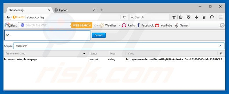 Removing nuesearch.com from Mozilla Firefox default search engine