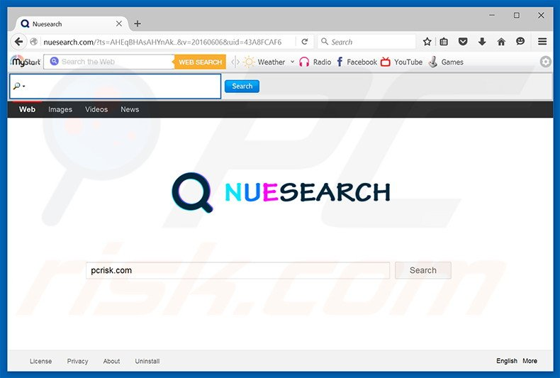 nuesearch.com browser hijacker