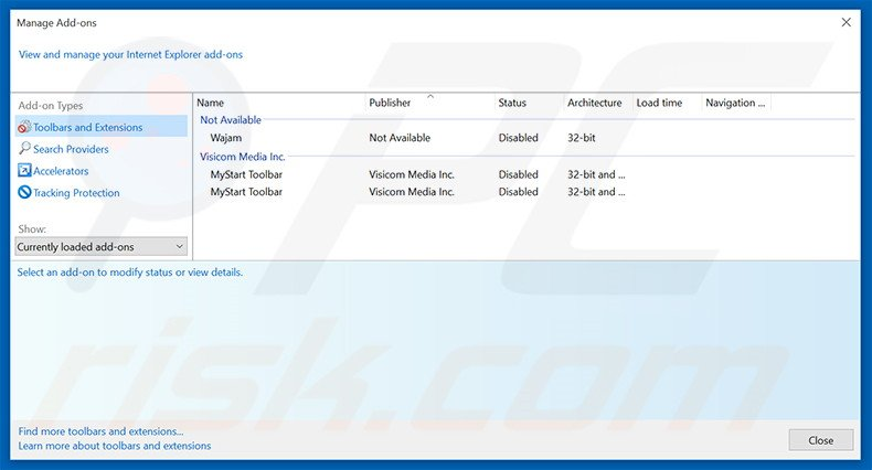 Removing OtherSearch ads from Internet Explorer step 2