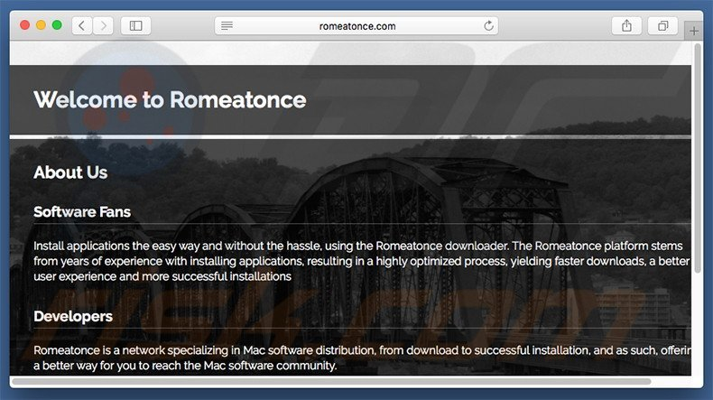 Dubious website used to promote search.romeatonce.com