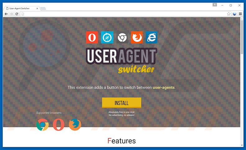 How to uninstall User-Agent Switcher Adware - virus removal instructions