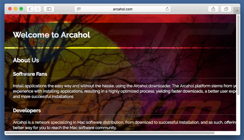 Dubious website used to promote search.arcahol.com