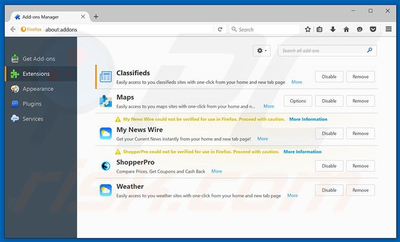 How to get rid of Search classifiedlist net Redirect - virus