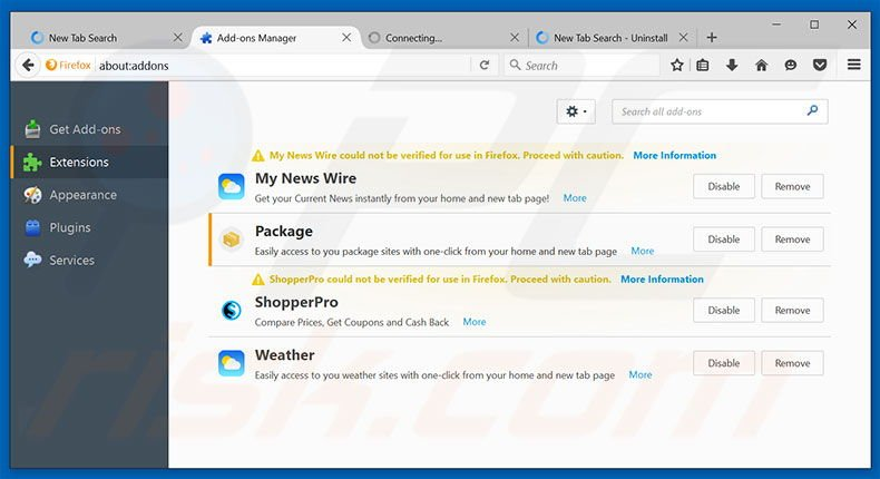 how to get rid of yahoo search on firefox