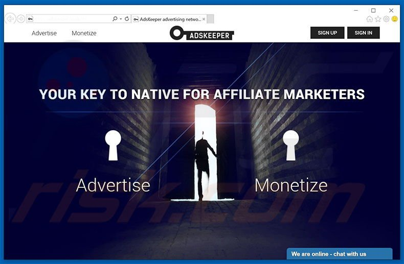 AdsKeeper advertising network website