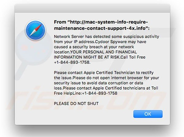How to get rid of MAC Malware Warning Alert ! Scam (Mac) - virus
