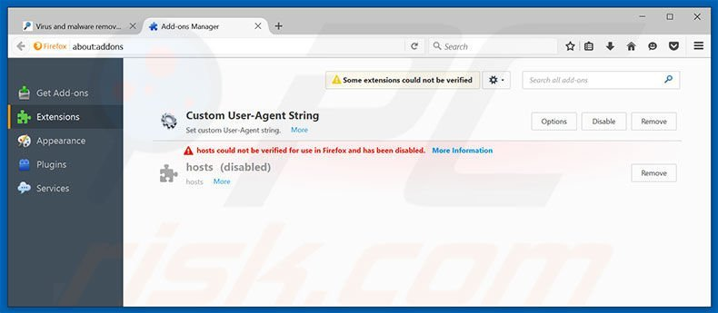 Removing VidSqaure ads from Mozilla Firefox step 2