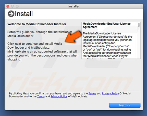 Delusive installer used to promote MediaDownloader