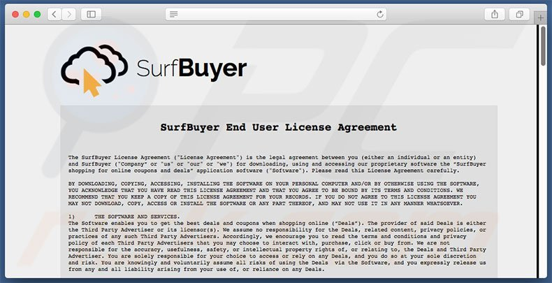 Dubious website used to promote SurfBuyer