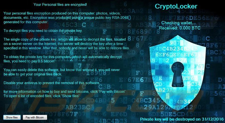 The CryptoLocker Viruses