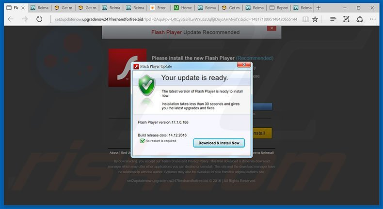 how to uninstall adobe flash player update pop up scam virus rh pcrisk com manual update flash player manual flash player download