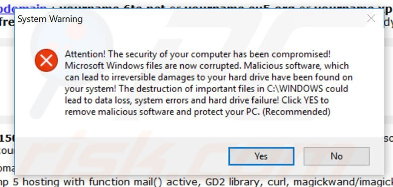 Antivirus 10 System warning