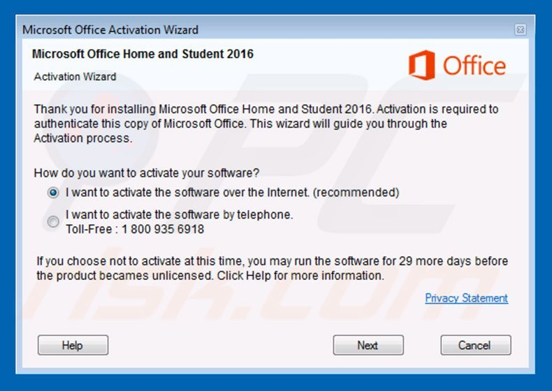 How to uninstall Microsoft Office Activation Wizard Scam - virus