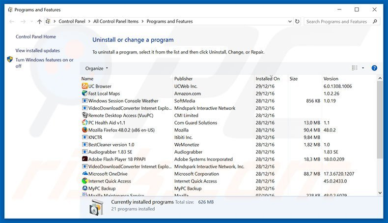 Microsoft Office Activation Wizard adware uninstall via Control Panel