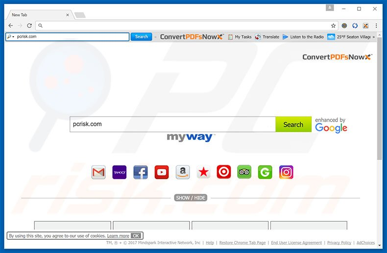convertpdfsnow homepage - How To Get Rid Of Myway Enhanced By Google