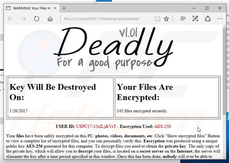 Other ransomware similar to FireCrypt