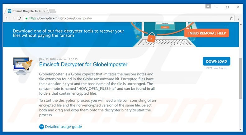 How to remove GlobeImposter Ransomware - virus removal steps (updated)