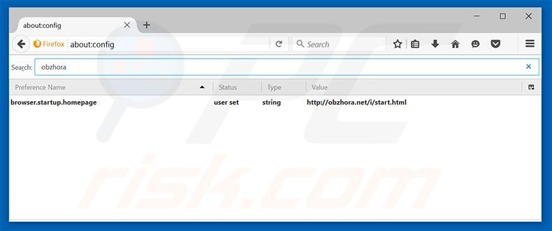 Removing obzhora.net from Mozilla Firefox default search engine