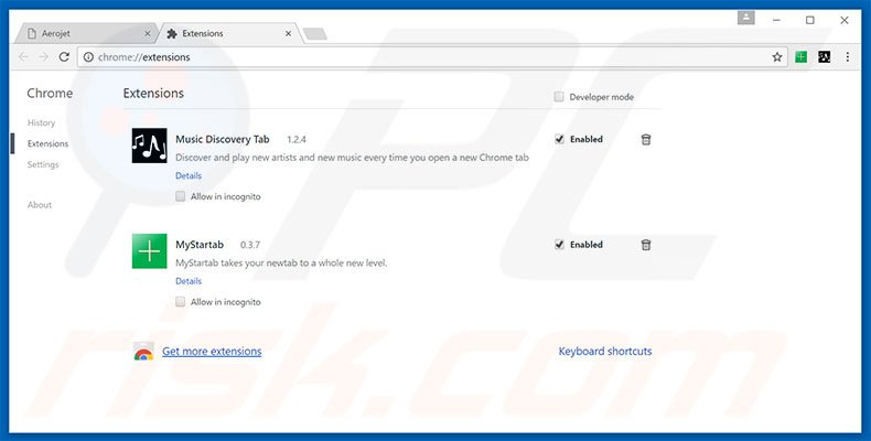 Removing search.queryrouter.com related Google Chrome extensions