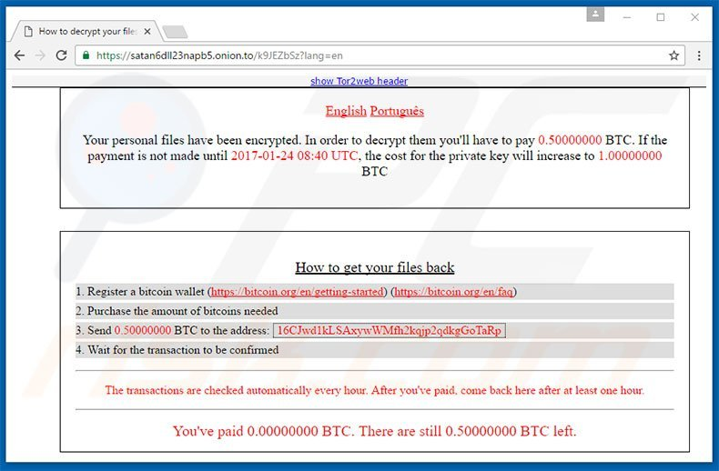 How to remove Satan Ransomware - virus removal steps (updated)