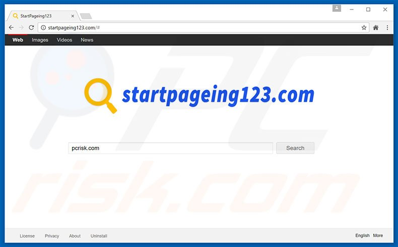 startpageing123.com browser hijacker