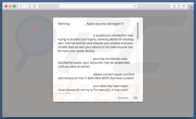 Mac Virus Removal >> How To Get Rid Of Apple Security Damaged Scam Mac Virus Removal