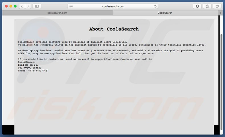 coolasearch.com about