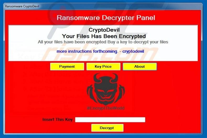 CryptoDevil decrypt instructions