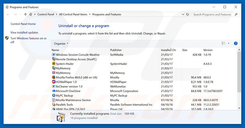 How to uninstall .Net Frame Work File Missing Scam - Virus removal