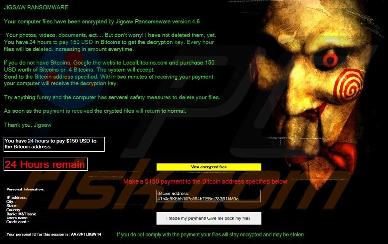 jigsaw ransomware updated version 4.6