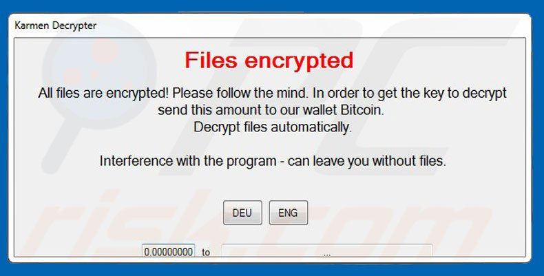 Karmen decrypt instructions