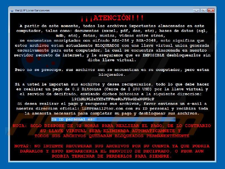 LLTP decrypt instructions