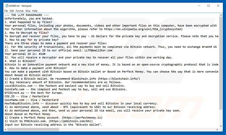 LLTP text file