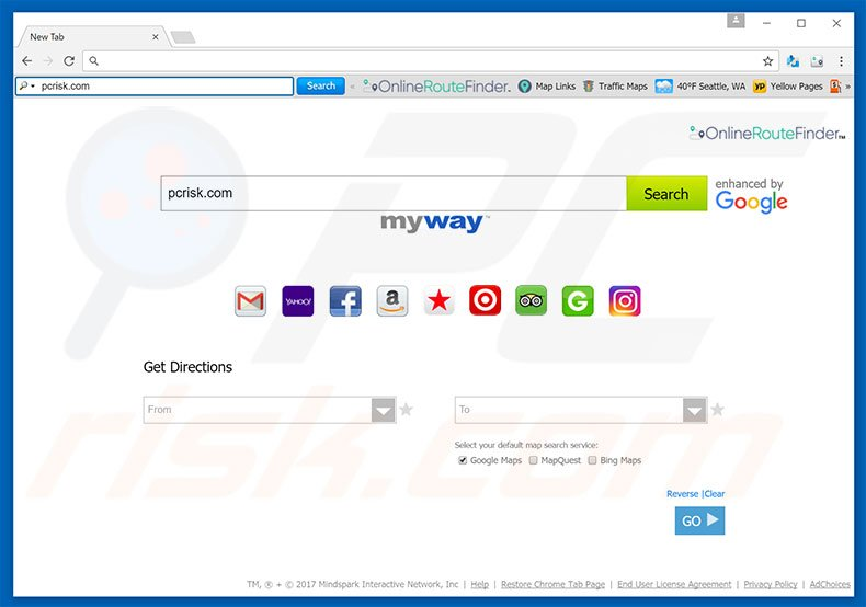 onlineroutefinder homepage - How To Get Rid Of Myway Enhanced By Google