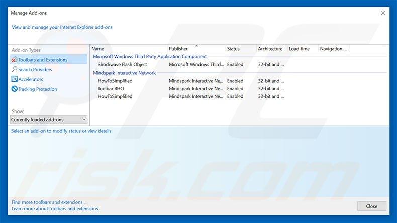 Removing Pro Flip ads from Internet Explorer step 2