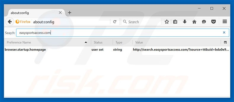 Removing search.searcheasysa.com from Mozilla Firefox default search engine