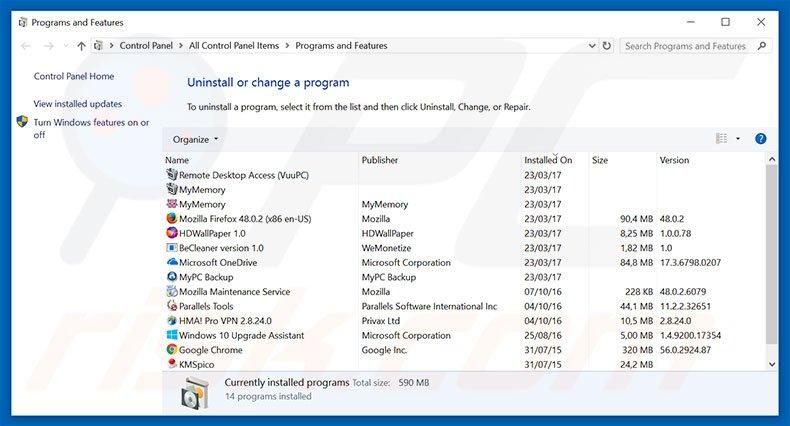 super-search.com browser hijacker uninstall via Control Panel