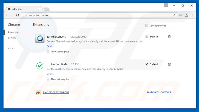 Removing search.testmyspeeds.co related Google Chrome extensions