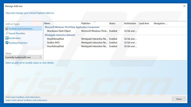 Removing search.testmyspeeds.co related Internet Explorer extensions