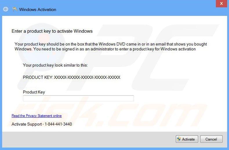 windows 10 product key expired virus