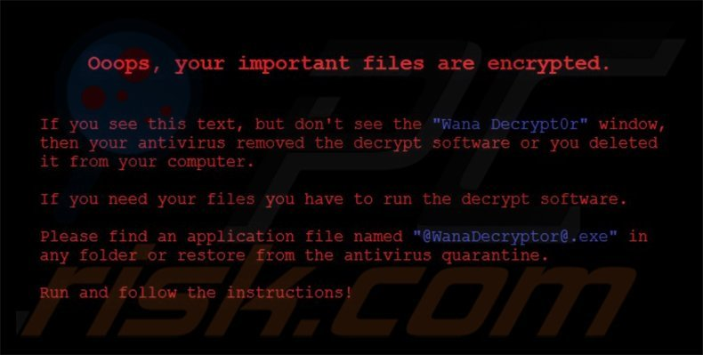 Wana Decrypt0r 2.0 desktop wallpaper