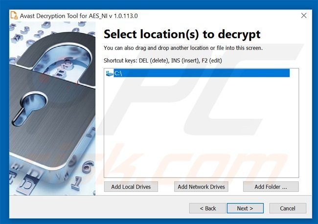 aes-ni ransomware decrytper by avast