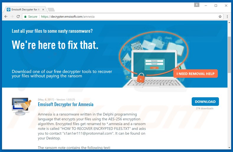 How to remove Amnesia Ransomware - virus removal steps (updated)
