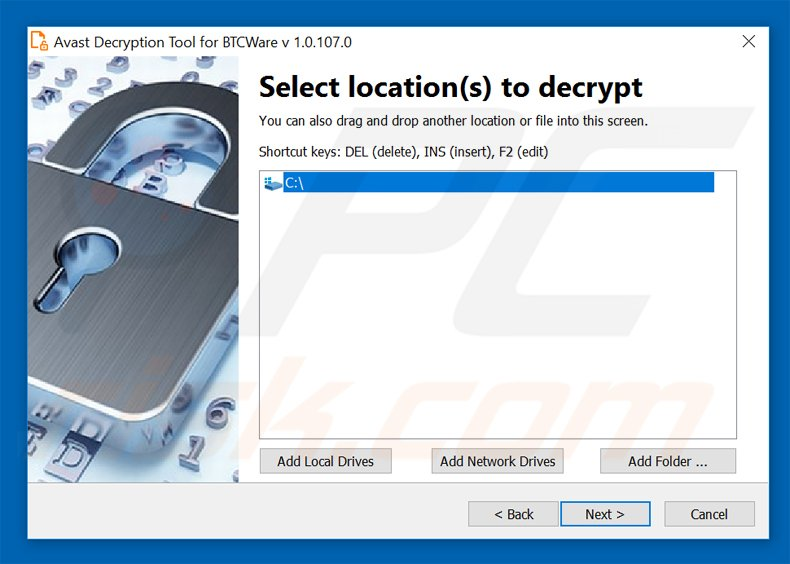 btcware ransowmare decrypter by avast
