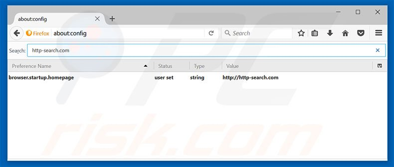 Removing http-search.com from Mozilla Firefox default search engine