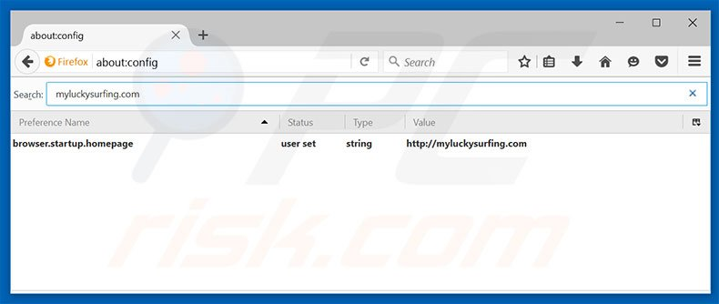 Removing myluckysurfing.com from Mozilla Firefox default search engine