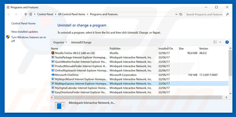 hp.myway.com browser hijacker uninstall via Control Panel